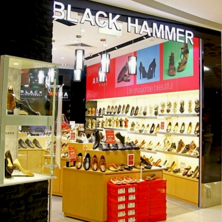 Black Hammer shoe shop Eastpoint Singapore.