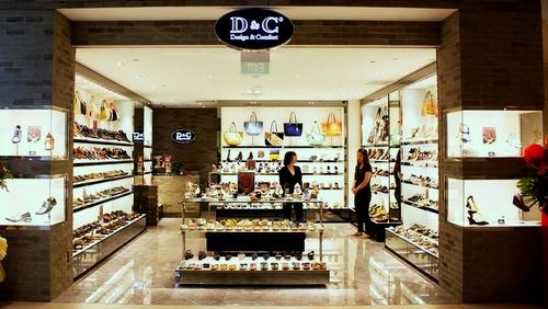 D&C (Design and Comfort) shoe shop Singapore.