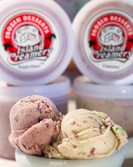 Island Creamery Ice Cream.