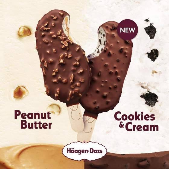 Peanut Butter & Cookies and Dream Ice Cream.