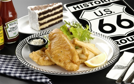 Billy Bombers American Diner Fish & Fries meal Singapore.