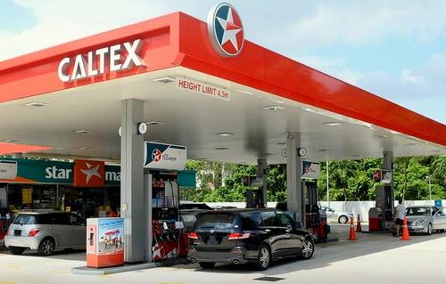 Caltex Gas Station Singapore.