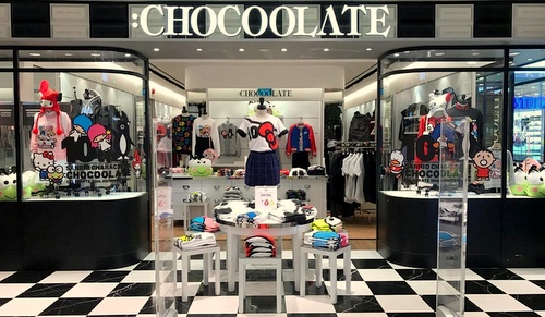 :CHOCOOLATE clothing store Bugis Junction Singapore.