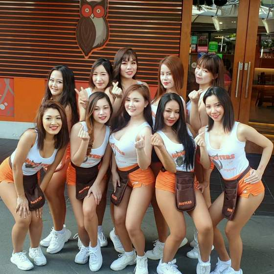 Hooters Girls Singapore.