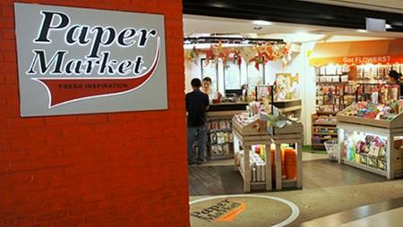 PaperMarket arts & crafts store Raffles City Singapore.