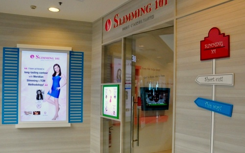 Slimming 101 weight loss clinic Hougang Mall Singapore.
