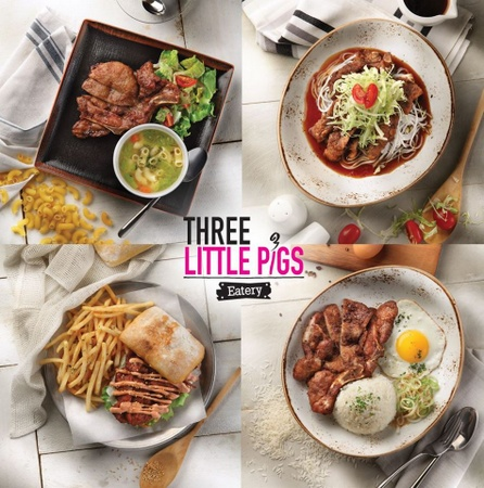 Three Little Pigs Eatery meals Singapore.