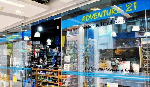 Adventure 21 outdoor & travel store Clarke Quay Central Singapore.