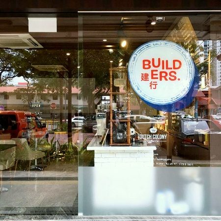 Builders at Sims cafe-restaurant Singapore.