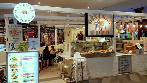 Caveman Food Paleo diet restaurant Singapore.