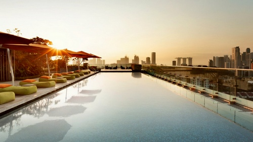orchardgateway rooftop pool Singapore.