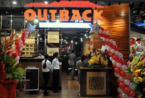 Outback Steakhouse restaurant orchardgateway Singapore.