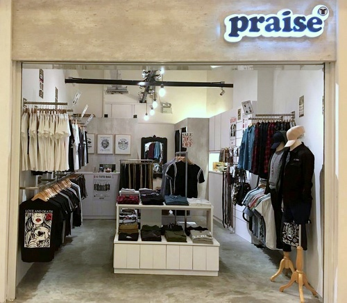 Praise clothing shop The Cathay Singapore.