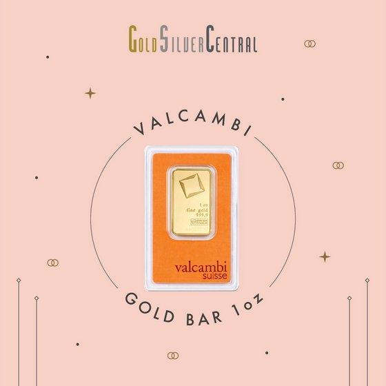 Valcambi Suisse gold bar 1oz.
