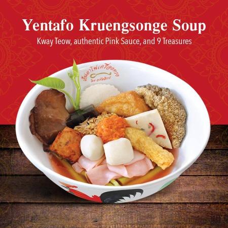 Yentafo Kruengsonge soup Singapore.