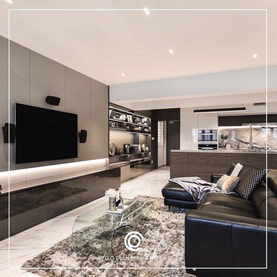 Edgeline Planners - Living Room Interior Design Singapore.