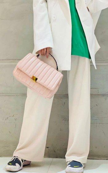 Pastel Pink Handheld Bag.