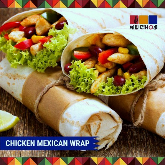 Chicken Mexican Wrap - Mucho - Mexican Food in Singapore.