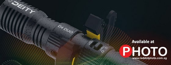 Deity D4 Duo Dual-Capsule Micro Camera-Mount Shotgun Microphone.