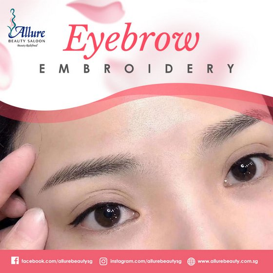 Eyebrow Embroidery in Singapore - Allure Beauty Saloon.