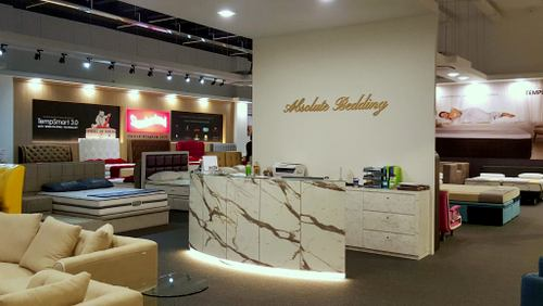 Absolute Bedding mattress and furniture store in Singapore.