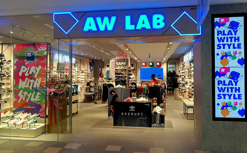 AW LAB store at Tampines 1 shopping centre in Singapore.