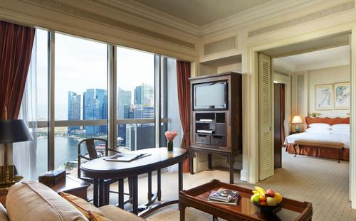 Swissôtel The Stamford Hotel's Stamford Crest Suite in Singapore.