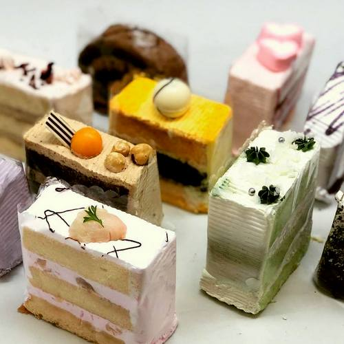 The Pine Garden cake slices, available in Singapore.