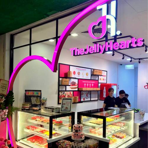 TheJellyHearts cake shop at United Square mall in Singapore.