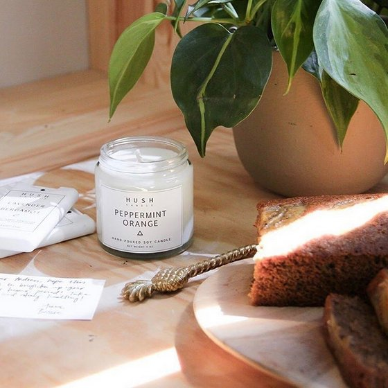 Peppermint Orange Scented Candle in Singapore - Therapy Market.