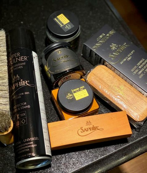 Saphir Shoe Care Products in Singapore.