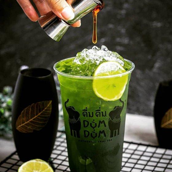 Honey Lime Green Tea - Dum Dum Thai Drinks.