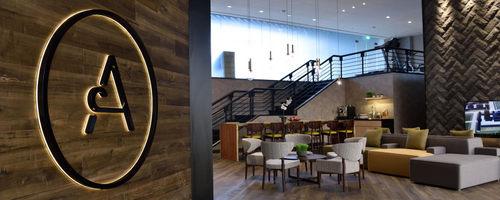 Aerotel hotel at Changi Airport in Singapore.
