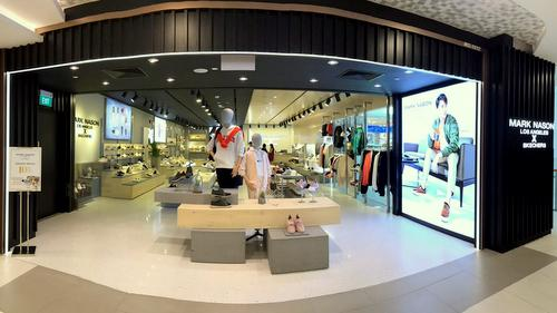 Mark Nason Los Angeles x Skechers store at Bugis Junction shopping centre in Singapore.