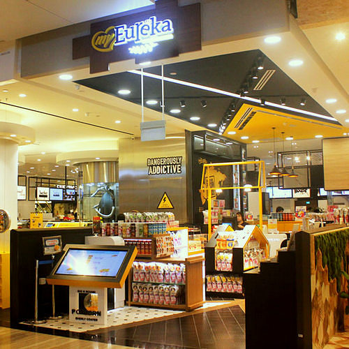 myEureka popcorn shop at Jewel Changi Airport in Singapore.