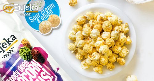 myEureka Sour Cream & Onion popcorn, available in Singapore.