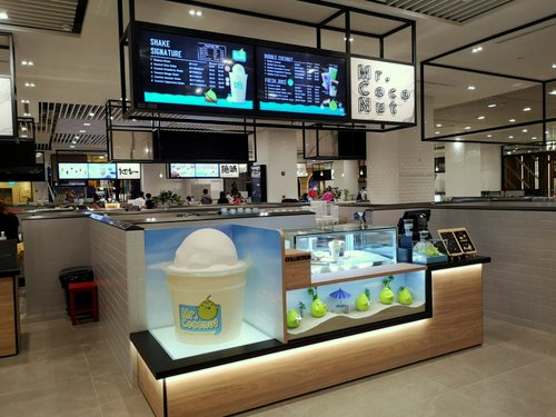 Mr. Coconut shop at Jewel Changi Airport in Singapore.