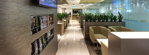 The Haven by JetQuay lounge at Changi Airport in Singapore.