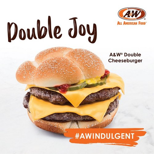 A&W Double Cheeseburger, available in Singapore.
