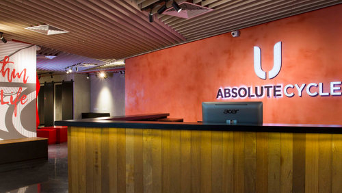 Absolute Cycle fitness centre at OUE Downtown Gallery in Singapore.