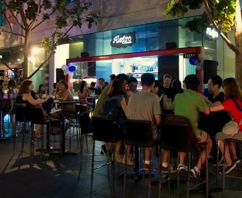 Alegro Churros Bar at Clarke Quay in Singapore.