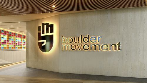 Boulder Movement climbing fitness centre in Singapore.