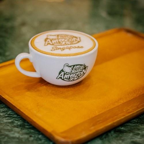 Cafe Amazon - Latte Art in Singapore.