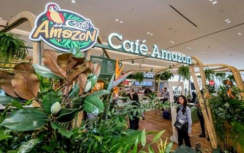 Cafe Amazon Jewel Changi Airport - Coffee House in Singapore.