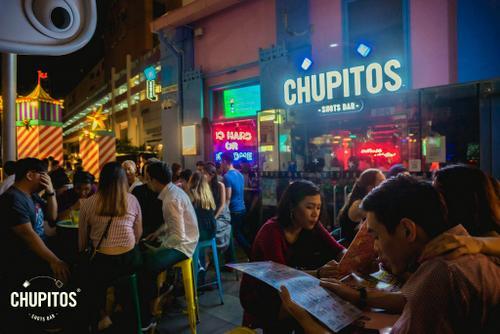Chupitos Shots Bar at Clarke Quay in Singapore.