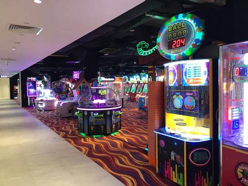 Fat Cat Arcade gaming hall in Singapore.