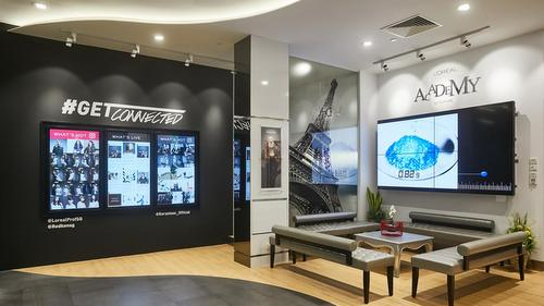 L'Oréal Academy Hairdressing School in Singapore.