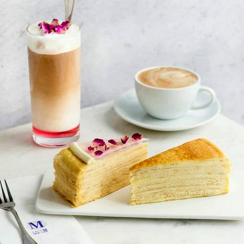 Lady M bakery shop's mille crêpes, available in Singapore.