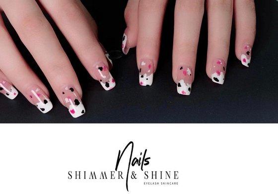 Nail Art in Singapore - Shimmer & Shine.