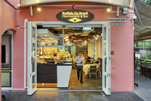 Rodizio Do Brazil restaurant & bar at Clarke Quay in Singapore.